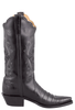Lucchese Women's Black Ultra Caiman Crocodile Triad Boots - Side