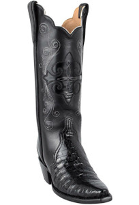 Lucchese Women's Black Ultra Caiman Crocodile Triad Boots - Hero