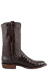 Lucchese Men's Chocolate Ultra Caiman Crocodile Roper Boots - Side