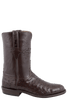Lucchese Men's Nicotine Full-Quill Ostrich Roper Boots - Side