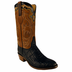 Lucchese Mens Elephant Boots - Black