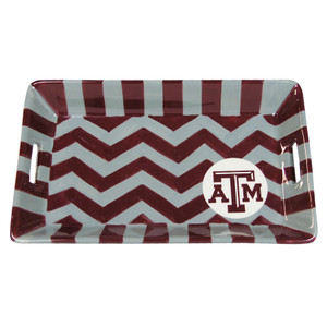 University - Texas A&M University Chevron Mini Tray