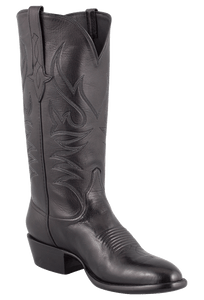 Stallion Men's Black Baby Buffalo Boots - Hero