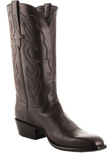 Stallion Men's Chocolate Baby Buffalo Boots