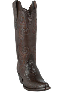 Stallion Women's Tobacco Caiman Crocodile Triad Boots - Hero