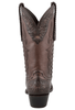 Stallion Women's Chocolate Western Tooled Boots - Back