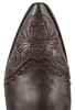 Stallion Women's Chocolate Western Tooled Boots - Toe