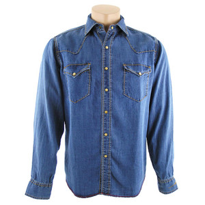 Ryan Michael Tencel Denim Hex Snap Shirt