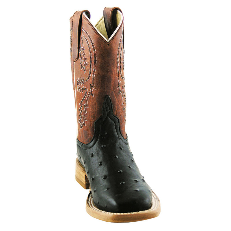 Anderson Bean Kids Full-Quill Ostrich Print Boots - Hero