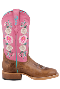 Macie Bean Kids Honey Bunch Rose Lizard Print Boots - Side