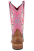 Macie Bean Kids Honey Bunch Rose Lizard Print Boots - Back