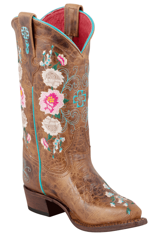 macie bean kids honey bunch embroidered boots