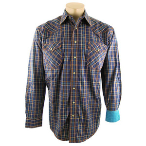 Panhandle Slim Ombre Plaid Snap Shirt