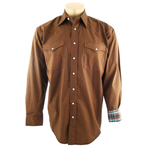 Panhandle Slim Antique Print Snap Shirt