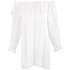 Vintage Collection Chiffon Peasant Tunic - White - Alternate