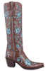 Liberty Boot Co. Women's Cafe and Azul 60's Cowgirl Boots - Side
