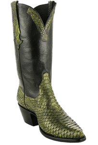 Stallion Women's Green Python Boots - Hero