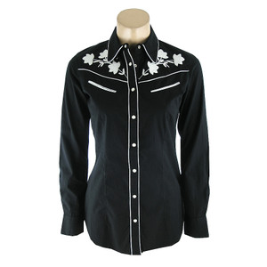 Ryan Michael Vintage Embroidered Western Shirt