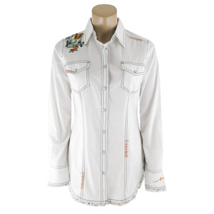 Ryan Michael Embroidered Western Shirt