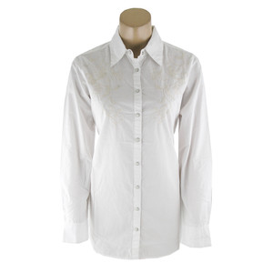 Ryan Michael Embroidered Western Shirt - White