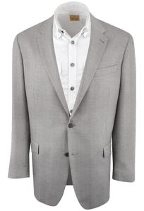 Black and Gray Herringbone Western Sport Coat - Front