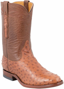 Benchmark by Old Gringo Men's Brandy Full-Quill Ostrich Cody Roper Boots