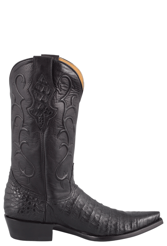 Benchmark by Old Gringo Men's Black Belly Caiman Tioga Boots - Side