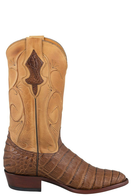 Benchmark by Old Gringo Men's Caramel Belly Caiman Cash Boots - Side