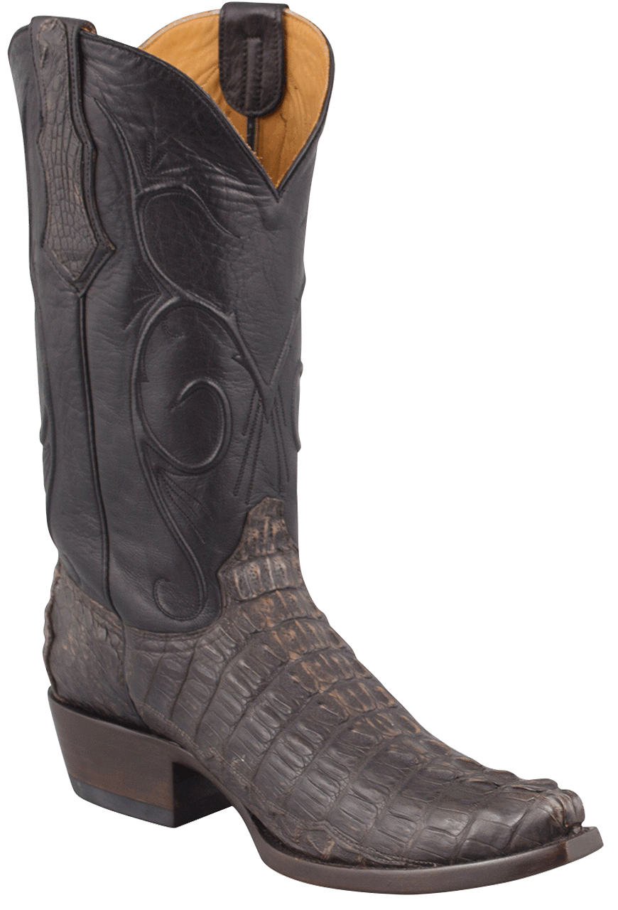 Benchmark By Old Gringo Mens Black And Tan Hornback