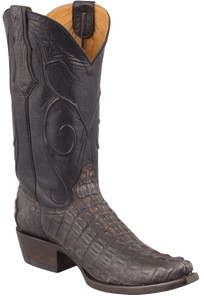 Benchmark by Old Gringo Men's Black and Tan Hornback Caiman Tail Red River Boots - Hero