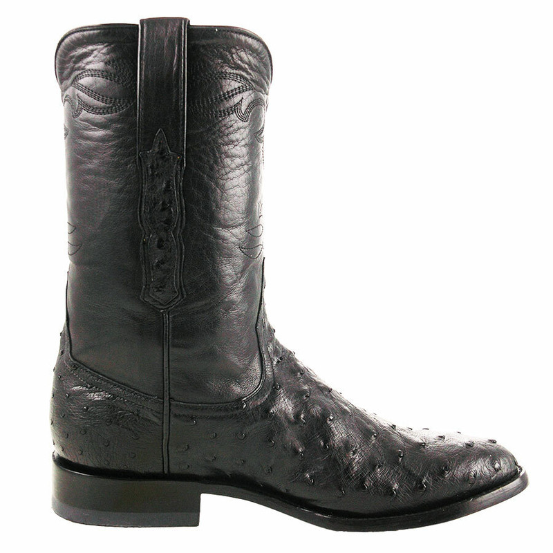 Benchmark by Old Gringo Men's Black Full-Quill Ostrich Cody Roper Boots  - Side