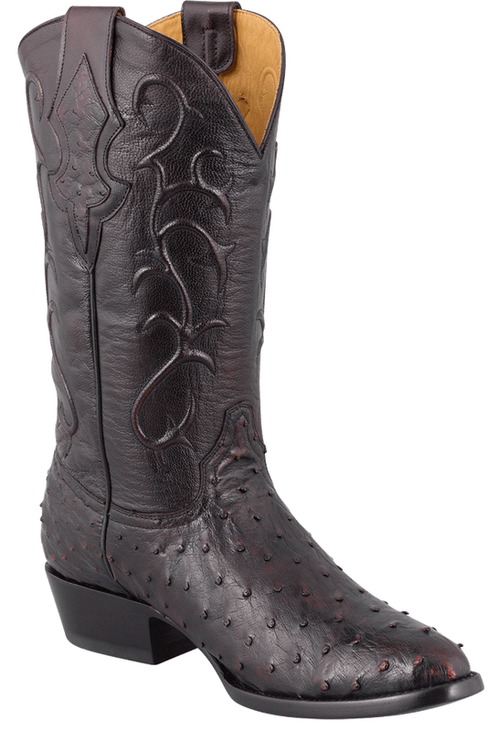 Benchmark by Old Gringo Men's Black Cherry Full-Quill Ostrich Tioga Boots - Hero