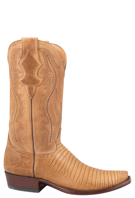 Benchmark by Old Gringo Men's Tan Lizard Rubicon Boots - Side