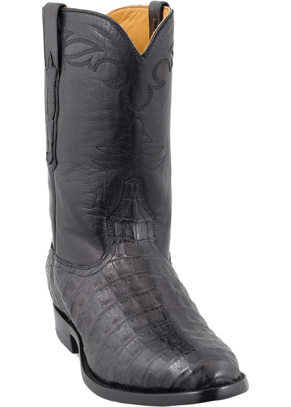 Benchmark by Old Gringo Men's Black Belly Caiman Cody Roper Boots - Hero