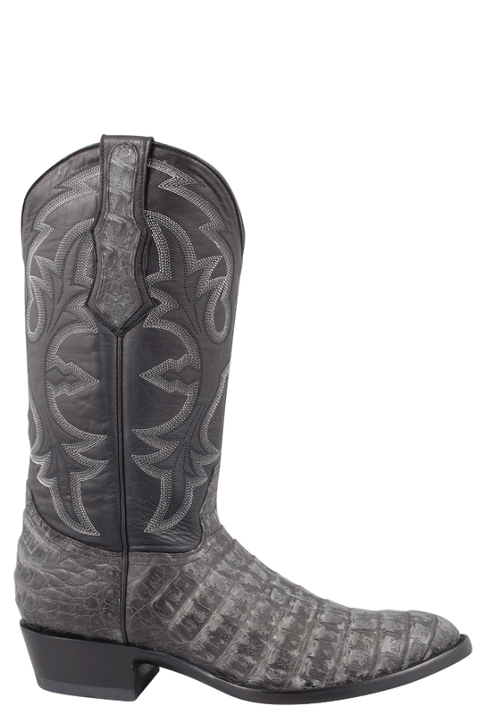 Benchmark by Old Gringo Men's Black and Gray Belly Caiman Teton Boots  - Side