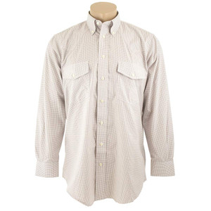 Gitman Bros. Tan Mini Check Shirt
