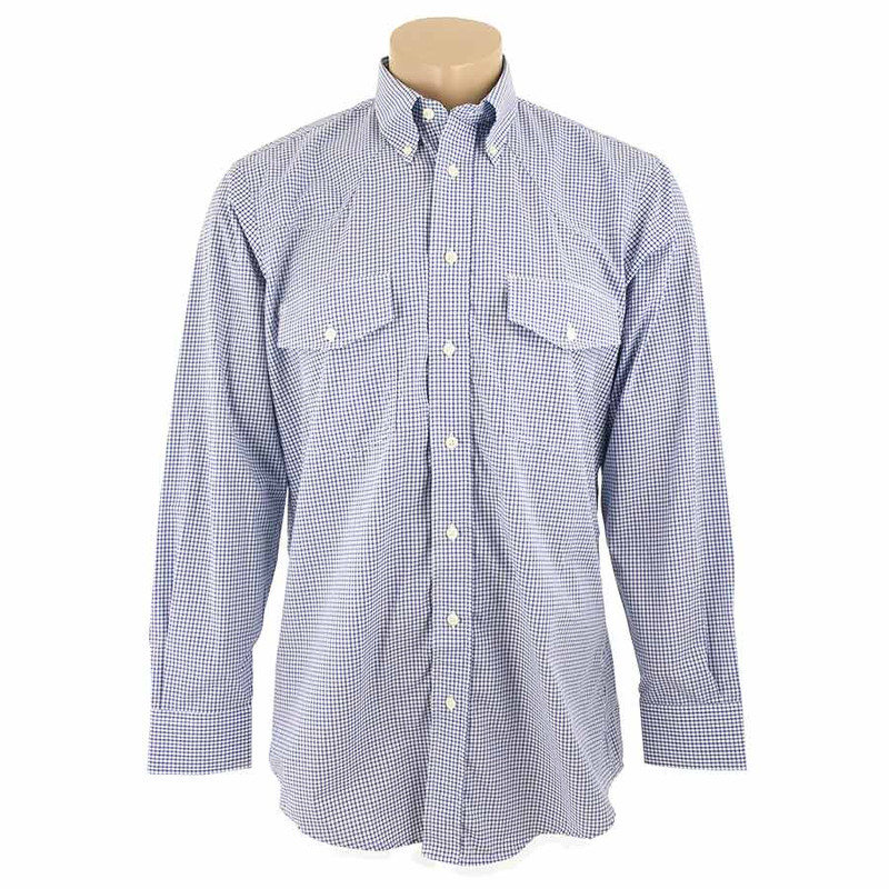 Gitman Bros - Blue Check Shirt - Front