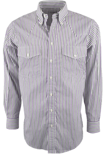 GITMAN BROS. PURPLE AND GRAY STRIPE SHIRT-FRONT