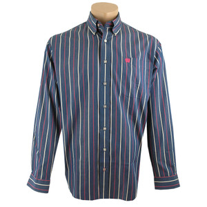 Cinch Blue with Pink and White Stripes Shirt