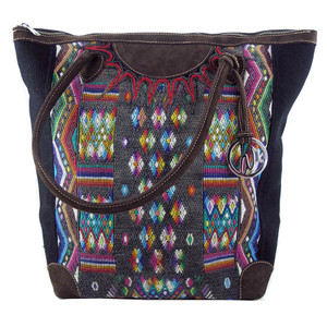 Arloom - Francesca Tote Black with Grey/Multi Diamond
