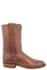 Lucchese Men's Barnwood Smooth Ostrich Roper - Side