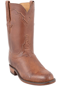 Lucchese Men's Barnwood Smooth Ostrich Roper - Hero