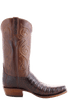 Lucchese Men's Barrel Brown Ultra Caiman Crocodile Boots - John Wayne Toe - Side