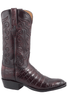Lucchese Men's Black Cherry Ultra Caiman Crocodile Boots - Side