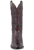 Lucchese Men's Black Cherry Ultra Caiman Crocodile Boots - Front