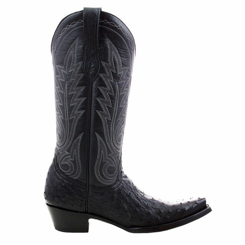 Benchmark by Old Gringo Women's Black Full-Quill Ostrich Boots  - Side