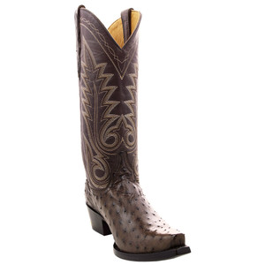 Benchmark By Old Gringo Women's Chocolate Full-Quill Ostrich Boots