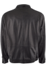 REMY LAMBSKIN JACKET - JET BLACK- BACK