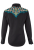 Panhandle Slim Embroidered Yoke Snap Shirt - Back