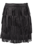 Bagatelle Black Fringe Mini Skirt - Back